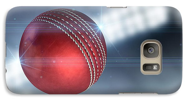 Cricket Galaxy S7 Case - Ball Flying Through The Air by Allan Swart