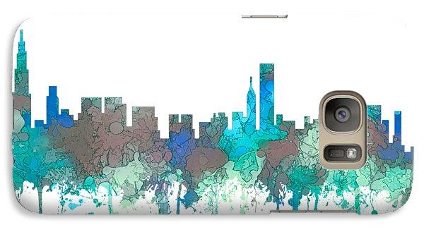 Galaxy Case featuring the digital art Chicago Illinois Skyline by Marlene Watson