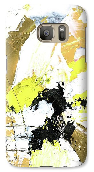 Galaxy Case featuring the painting Three Color Palette by Michal Mitak Mahgerefteh