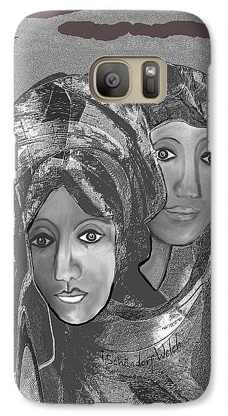 Galaxy Case featuring the digital art 1667 - The Sisters by Irmgard Schoendorf Welch