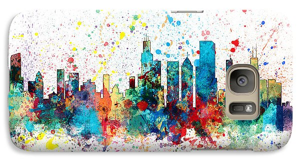 Sears Tower Galaxy S7 Case - Chicago Illinois Skyline by Michael Tompsett