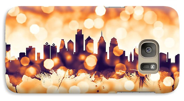 Philadelphia Skyline Galaxy S7 Case - Philadelphia Pennsylvania Skyline by Michael Tompsett