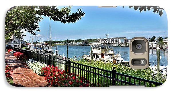 Galaxy Case featuring the photograph 1812 Memorial Park - Lewes Delaware by Brendan Reals