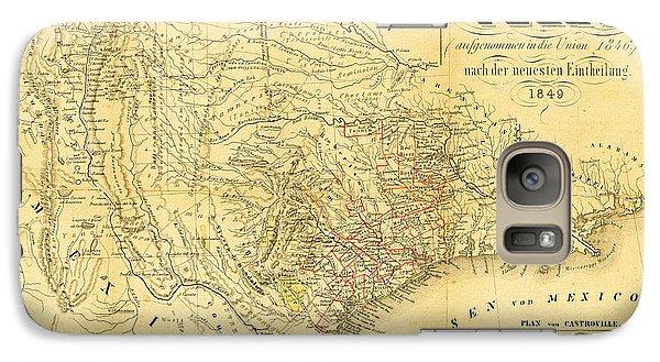 1849 Texas Map Galaxy S7 Case