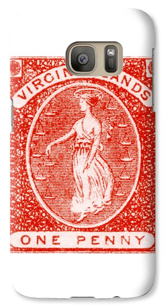 Galaxy Case featuring the painting 1858 Virgin Islands Stamp by Historic Image