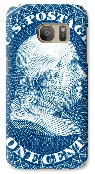 Galaxy Case featuring the painting 1861 Benjamin Franklin Stamp by Historic Image