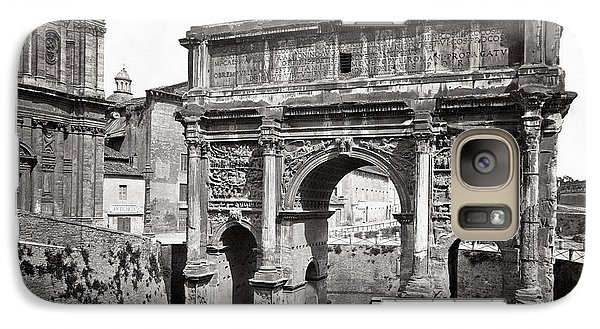 Galaxy Case featuring the photograph 1870 Arch Of Septimius Severus Rome Italy by Historic Image