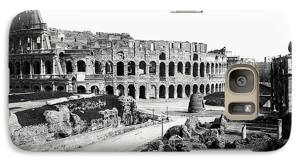 Galaxy Case featuring the photograph 1870 The Colosseum Of Rome Italy by Historic Image
