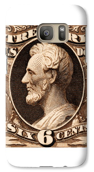 Galaxy Case featuring the painting 1875 Abraham Lincoln Treasury Department Stamp by Historic Image