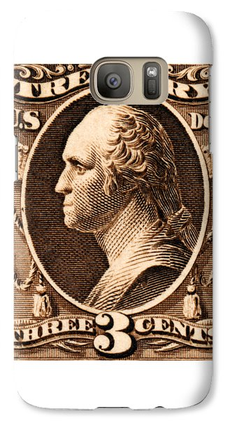 Galaxy Case featuring the painting 1875 George Washington Treasury Department Stamp by Historic Image