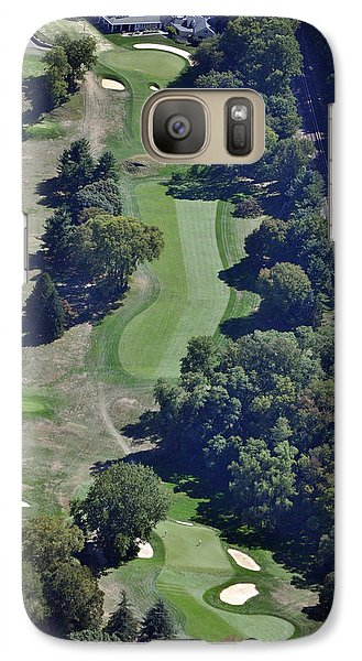 Galaxy Case featuring the photograph 18th Hole Gulph Mills Golf Club Aerial 200 Swedeland Road Conshohocken Pa 19428 by Duncan Pearson