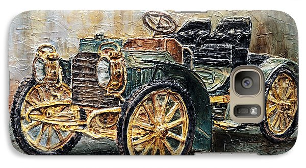 Galaxy Case featuring the painting 1901 Mercedes Benz by Joey Agbayani
