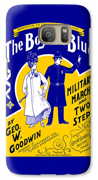 Galaxy Case featuring the painting 1901 The Boys In Blue, The Boston Police by Historic Image