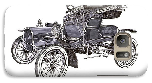 Galaxy Case featuring the drawing 1906 Knox Model F 3 Surry by Jack Pumphrey