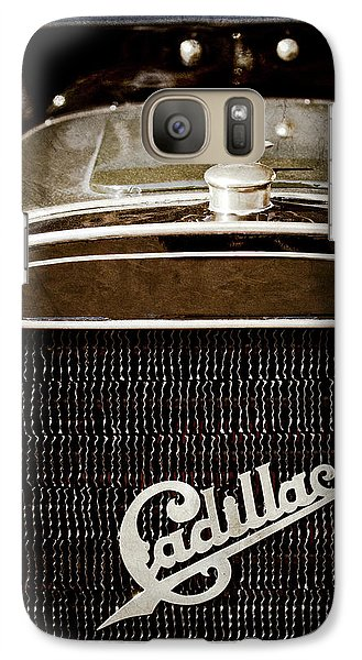 Galaxy Case featuring the photograph 1907 Cadillac Model M Touring Grille Emblem -1106ac by Jill Reger