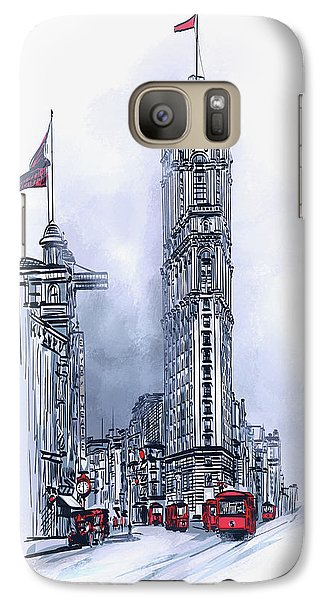 Galaxy Case featuring the painting 1908 Times Square,ny by Andrzej Szczerski