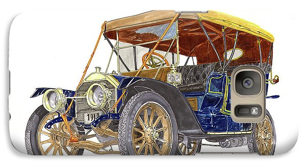 Galaxy Case featuring the painting 1910 Knox Model R 5 Passenger  Touring Automobile by Jack Pumphrey