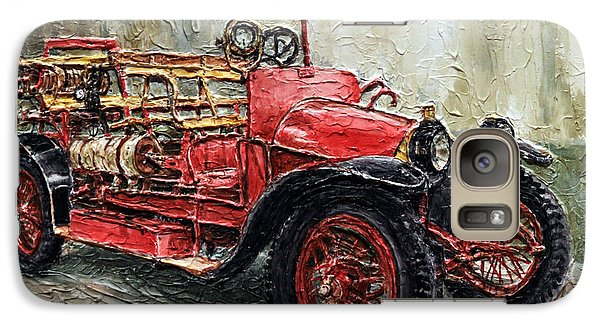 Galaxy Case featuring the painting 1912 Porsche Fire Truck by Joey Agbayani
