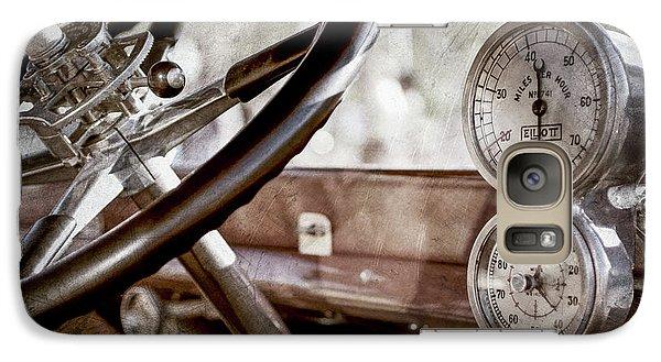 Galaxy Case featuring the photograph 1914 Rolls-royce 40 50 Silver Ghost Landaulette Steering Wheel -0795ac by Jill Reger