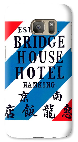 Galaxy Case featuring the painting 1920 Bridge House Hotel Nanking China by Historic Image