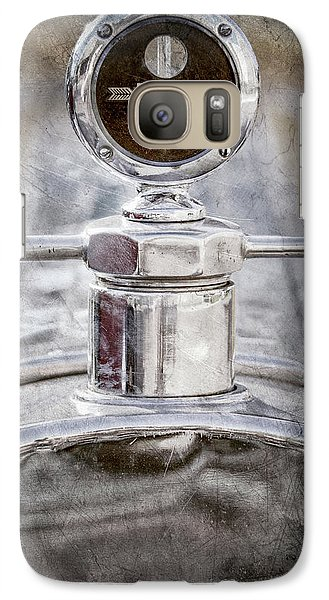 Galaxy Case featuring the photograph 1920 Pierce-arrow Model 48 Coupe Hood Ornament -2829ac by Jill Reger
