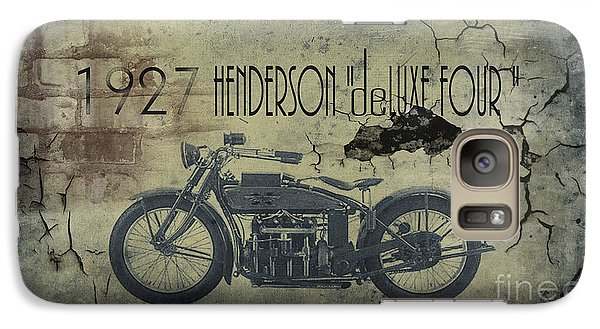 1927 Henderson Vintage Motorcycle Galaxy S7 Case by Cinema Photography