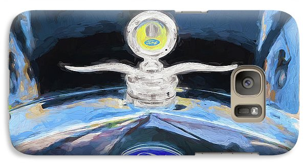 Galaxy Case featuring the photograph 1929 Ford Model A Hood Ornament Painted by Rich Franco