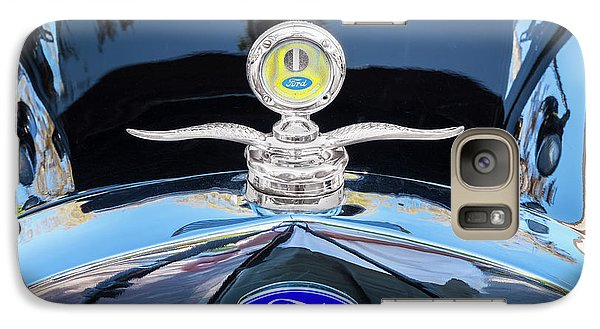 Galaxy Case featuring the photograph 1929 Ford Model A Hood Ornament  by Rich Franco