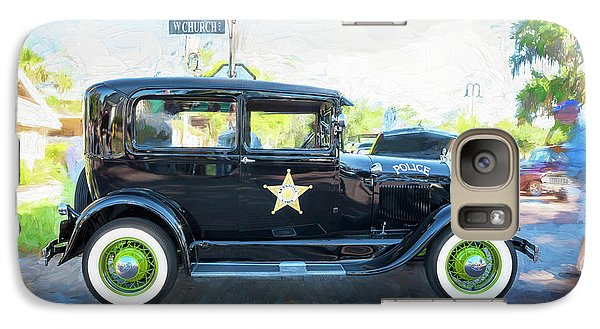 Galaxy Case featuring the photograph 1929 Ford Model A Tudor Police Sedan  by Rich Franco