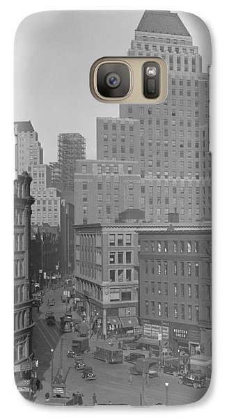 Galaxy Case featuring the photograph 1929 Summer Street In Dock Square Boston by Historic Image