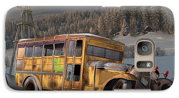 Galaxy Case featuring the digital art 1931 Ford School Bus by Stuart Swartz