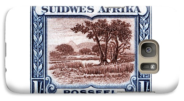 Galaxy Case featuring the painting 1931 South West African Landscape Stamp by Historic Image