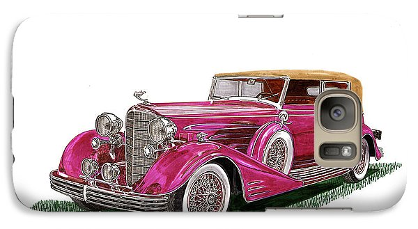 Galaxy Case featuring the painting 1932 Cadillac All Weather Phaeton V 16 by Jack Pumphrey