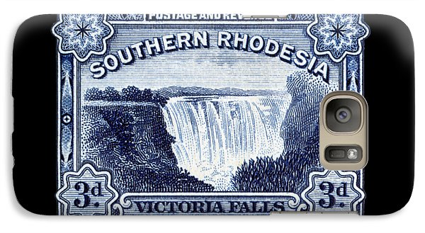 Galaxy Case featuring the painting 1932 Southern Rhodesia Victoria Falls Stamp by Historic Image