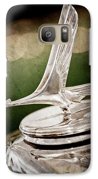 Galaxy Case featuring the photograph 1932 Studebaker Dictator Hood Ornament -0850ac by Jill Reger
