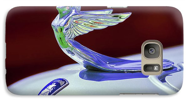 Galaxy Case featuring the photograph 1933 Plymouth Hood Ornament -0121rc by Jill Reger