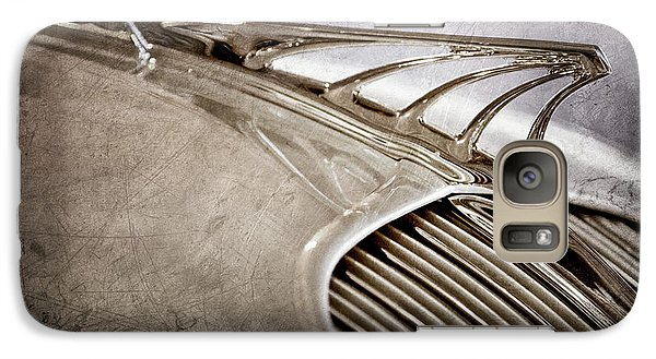 Galaxy Case featuring the photograph 1934 Desoto Airflow Coupe Hood Ornament -2404ac by Jill Reger