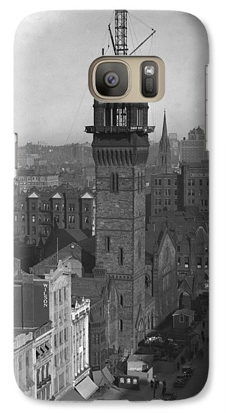 Galaxy Case featuring the photograph 1935 Back Bay Construction, Boston by Historic Image