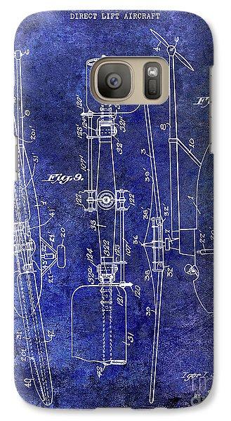 1935 Helicopter Patent Blue Galaxy S7 Case by Jon Neidert