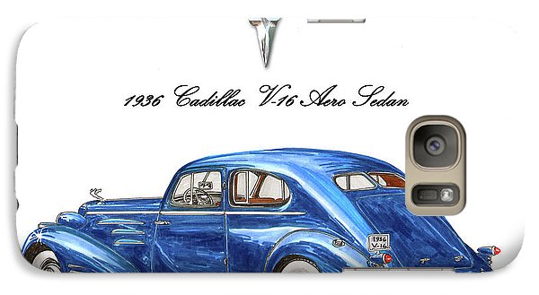 Galaxy Case featuring the painting 1936 Cadillac V-16 Aero Coupe by Jack Pumphrey