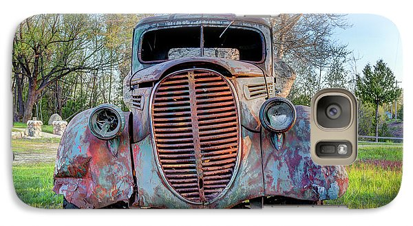 Galaxy Case featuring the photograph 1936 Model 511 1/2 Ton Stakebed Farm Truck Near Charlevoix, Mic by Peter Ciro