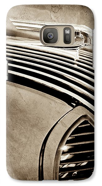 Galaxy Case featuring the photograph 1936 Pontiac Hood Ornament -1140s by Jill Reger