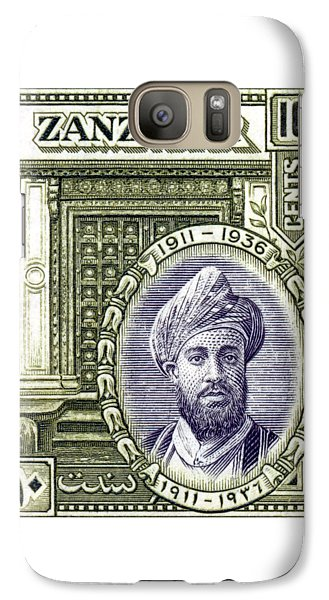 Galaxy Case featuring the painting 1936 Sultan Of Zanzibar Stamp by Historic Image