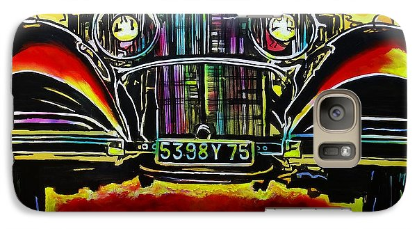 Galaxy Case featuring the painting 1937 Mercedes Benz First Wheel Down by Eric Dee