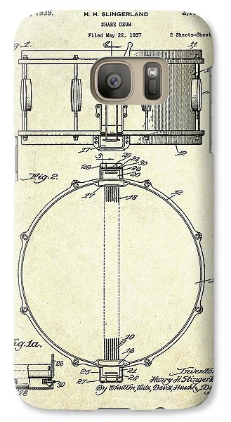 1939 Slingerland Snare Drum Patent S1 Galaxy S7 Case by Gary Bodnar