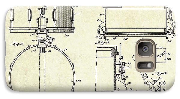 1939 Slingerland Snare Drum Patent Sheets Galaxy S7 Case by Gary Bodnar