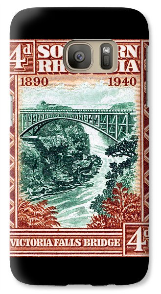 Galaxy Case featuring the painting 1940 Southern Rhodesia Victoria Falls Bridge  by Historic Image