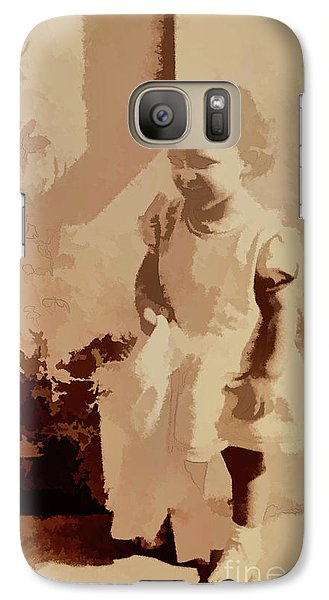 Galaxy Case featuring the photograph 1940s Little Girl by Linda Phelps