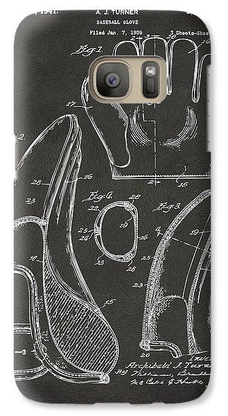 1941 Baseball Glove Patent - Gray Galaxy S7 Case