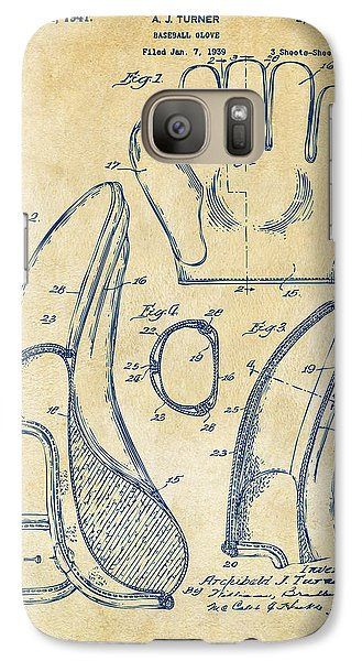 1941 Baseball Glove Patent - Vintage Galaxy S7 Case